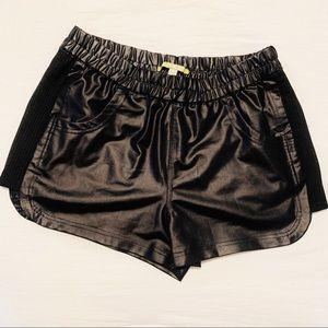 Gianni Bini Leather Stretch Shorts